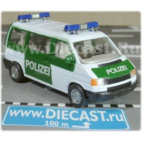 Volkswagen Transporter T4 And Volvo F16 Tow Truck German Police 1:43 D43H0980