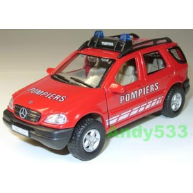 Mercedes Benz M Class Ml 320 Fire Guard Pompiers France 1:43 D43R0077