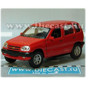 Lada Vaz 2123 Chevrolet Chevy Niva Awd 4x4 Color Red 1:36 D36W2147