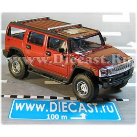 Hummer H-2 Wagon Suv 2004 Color Metallic Red Whine 1:43 D43H2043