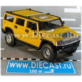 Hummer H-2 Wagon Suv 2004 Color Yellow 1:43 D43H2044