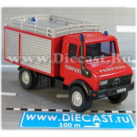 Mercedes Benz Unimog Fire Guard Pompiers France 1:43 D43R0088