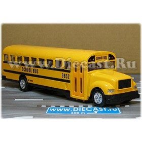 International School Bus Pull Back Motor 1:50 D43S2070