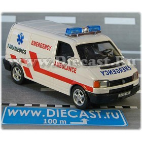 Volkswagen Transporter T4 Caravelle Ambulance Uk Emergency Paramedics 1:43 D43H2088