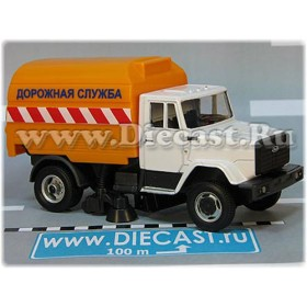 Zil 4331 Russian Road Service Cleaning Truck With Brush 1:60 D60H2091