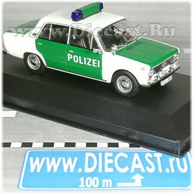 Lada Vaz 2101 1200 German Democratic Republic Police Polizei 1:43 D43D1421