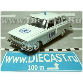Azlk Moskvitch Izh 1500 Combi Russian United Nations Police Patrol 1:43 D43R1223