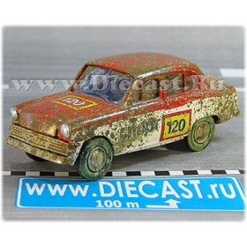 Azlk Moskvitch 403 1963 Soviet Rally Sport Team #120 1:43 D43R1725