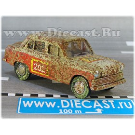 Azlk Moskvitch 403 1963 Soviet Rally Sport Team #202 1:43 D43R1726