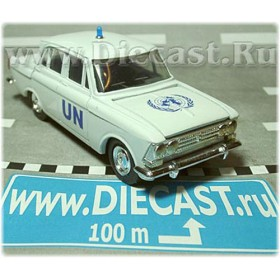 Azlk Moskvitch 408 Russian United Nations Police Patrol 1:43 D43R1224