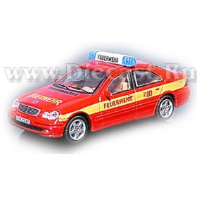 Mercedes Benz C Class 230 German Fire Guard Feuerwehr 1:72 D72H0817