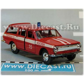 Gaz 2402 Volga Estate Wagon Fire Guard Chief Moscow District 15 1:43 D43R1999