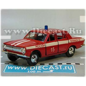 Gaz 24 Volga Russian Fire Guard Chief Moscow District 15 1:43 D43R1998