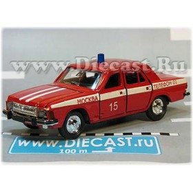 Gaz 3102 Volga Russian Fire Guard Fire Chief Moscow District 15 1:43 D43R2000