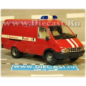 Gaz 2750 Gazelle Russian Fire Guard Rapid Response Van Abr-3 1:43 D43R2015