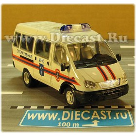 Gaz 3221 Gazelle MCHS Russian Fire Guard Rescue Ambulance 1:43 D43R2016