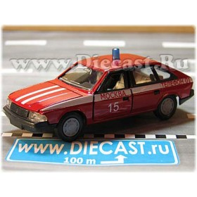 Azlk Moskvitch 2141 Aleko Russian Fire Guard Fire Chief Moscow district 15 1:43  D43R2005