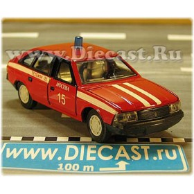 Azlk Moskvitch 2141 Aleko Russian Fire Guard Fire Chief Moscow district 15 V2 1:43 D43R2006