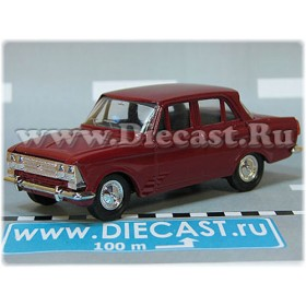 Azlk Moskvitch 408 Russian Sedan Color Wine Red 1:43 D43R2111