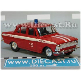 Azlk Moskvitch 408 Russian Fire Guard Fire Chief Moscow district 15 1:43  D43R2002