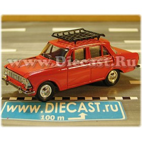 Azlk Moskvitch 412 Russian Sedan Color Red Roof Rack 1:43 D43R2113