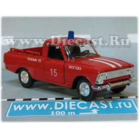 Azlk Moskvitch Pickup Russian Fire Guard Fire Chief Moscow district 15 1:43  D43R2007