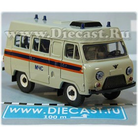 Uaz 3962 High Roof MCHS Russian Fire Guard Rescue Ambulance AWD 4x4 SUV 1:43  D43R2014