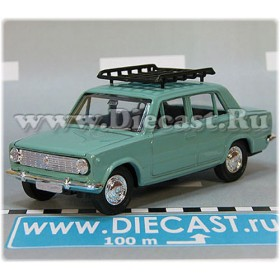 Lada Vaz 2101 1200 Russian Sedan Color Mint Green Roof Rack 1:43 D43R2118