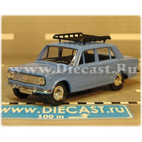 Lada Vaz 2101 1200 Russian Sedan Color Light Blue Roof Rack 1:43 D43R2119