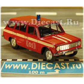 Lada Vaz 2102 1200 Russian Fire Guard Fire Chief (01) 1:43  D43R2009