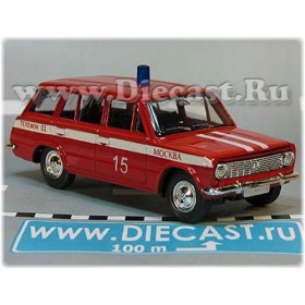 Lada Vaz 2102 1200 Russian Fire Guard Fire Chief Moscow district 15 1:43  D43R2010