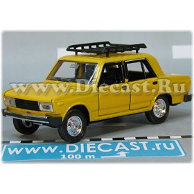 Lada Vaz 2105 Nova 1300 Russian Sedan Color Yellow Roof Rack 1:43 D43R2127