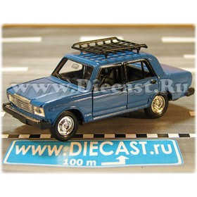 Lada Vaz 2107 1500 Sl Riva Laika Berlina With Roof Rack Color Sky Blue 1:43 D43R2129