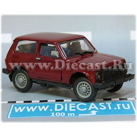 Lada Vaz 2121 21213 Niva 4x4 Color Whine Red Metallic 1:43 D43R2138