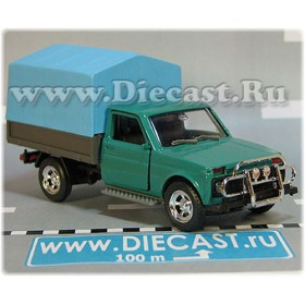 Lada Vaz 2121 21213 Niva 4x4 Fvk Pickup Vis 2302 Pickup Green Light Blue Canvas 1:43 D43R2139