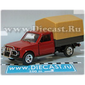 Lada Vaz 2121 21213 Niva 4x4 Fvk Pickup Vis 2302 Russian Pickup Red Sand Canvas Top 1:43 D43R2143