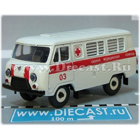 Uaz 3962 Russian Ambulance White With Stripe Tinted Glass 4x4 Awd Minibus 1:43 D43R1908