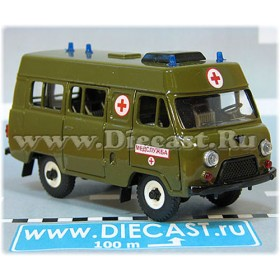 Uaz 3962 Russian Paramedic Army Military Green Ambulance 4x4 Awd Minibus 1:43 D43R1910
