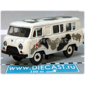 Uaz 3962 Russian Army Military White Winter Camo And Star 4x4 Awd Minibus 1:43 D43R1917
