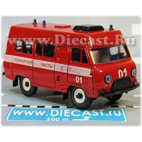 Uaz 3962 High Roof Russian Fire Guard Van AWD 4x4 SUV 1:43  D43R2013