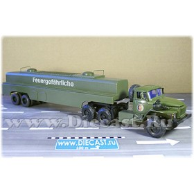 Ural 44202 East German GDR Ddr Army Military Fuel Tanker Truck 1:43 D43R1552
