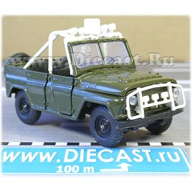Uaz 469 Russian Rally Sport 4x4 Awd Suv Color Green 1:43 D43R1484