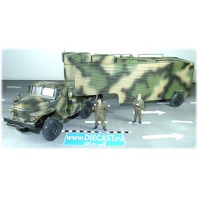 Ural 44202 Russian Army Mobile Command Center Shelter 1:43 D43R0468