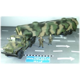 Ural 44202 Russian Army Military Fuel Tanker Summer Camouflage 1:43 D43R0469