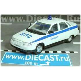 Lada Vaz 110 2110 Russian Police Patrol Dps Type#1 1:43 D43R0715