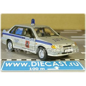 Lada Vaz 115 2115 Russian Moscow Uvao Police Patrol Dps 1:43 D43R1401
