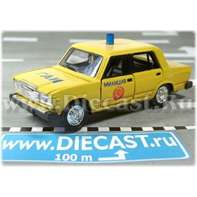 Lada Vaz 2107 Soviet Union Traffic Police Gai Type2 1:43 D43R1117