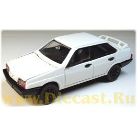 Lada Vaz 21099 Samara With Rear Spoiler Color White Vintage 1:43 D43R1042