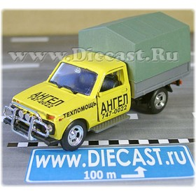 Lada Vaz 2121 21213 Niva 4x4 Fvk Pickup Vis 2302 Russian Road Assistance Angel 1:43 D43R1600