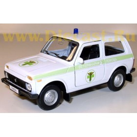 Lada Vaz 2121 21213 Niva 4x4 Russian Veterinary Ambulance Pet Doctor Suv 1:34 D34W0247